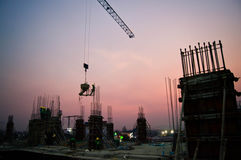 Tower crane in construction Stock Image