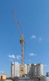 Tower crane on the construction of a new multi-storey house Royalty Free Stock Photography