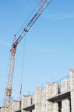 Tower crane and construction site Royalty Free Stock Images