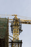 Tower crane at the construction site Royalty Free Stock Photos