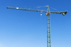 Tower Crane on construction site. Stock Photo