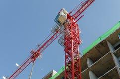 Tower crane in construction site Stock Photos