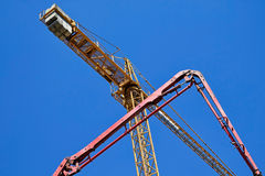 Tower crane at the construction site Stock Photos