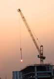 Tower crane on a construction site Stock Photos