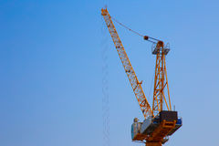 Tower crane on construction site stock image