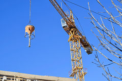 Tower crane at the construction site Royalty Free Stock Photography