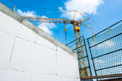Tower crane at construction site Stock Image