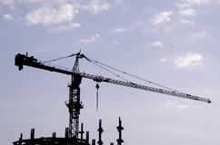 Tower crane. In a construction yard Royalty Free Stock Photography