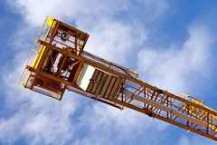 Tower crane counter jib Stock Images