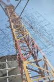 Tower crane & drawing Royalty Free Stock Image
