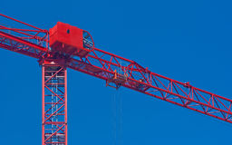 Tower crane and drivers control cabin Stock Image