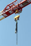 Tower crane elements on building field. Royalty Free Stock Photography