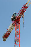 Tower crane elements on building site Stock Image