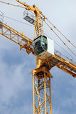 Tower crane elements on building site Royalty Free Stock Photo