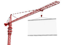 Tower crane with empty sign Stock Photography