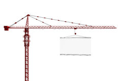 Tower crane with empty sign Stock Photos