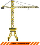 Tower crane. Heavy construction machines. Vector Stock Photography