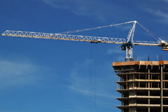 Tower crane and house-building Stock Image