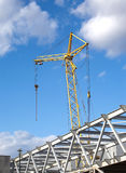 Tower crane on industrial building construction Royalty Free Stock Image