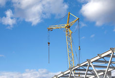 Tower crane on industrial building construction Stock Photography
