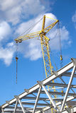 Tower crane on industrial building construction Stock Photos