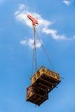 Tower crane. Lift the iron Stock Image