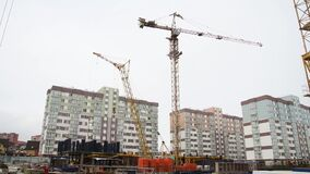 Tower crane on the construction site