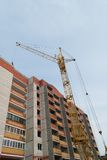 Tower crane and multi-storey building. Tower crane and multi-storey build stock photo