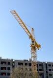 Tower crane near building Stock Photo