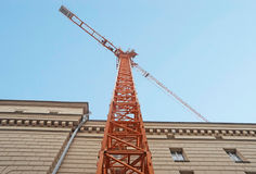 Tower crane near the building Stock Images