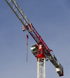 Tower crane painted red and white Stock Photos