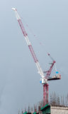 Tower crane and reinforced building Royalty Free Stock Photos
