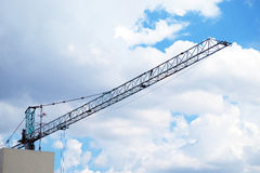 Tower crane and sky stock image