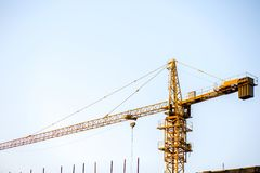 Tower crane. With cambridge blue sky background Royalty Free Stock Image
