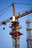 Tower Crane under blue sky Royalty Free Stock Photo