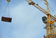 Tower Crane used to lifting heavy load Stock Image