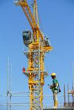 Tower Crane used to lifting heavy load Stock Photo