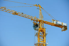 Tower Crane used to lifting heavy load Stock Photos