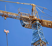 Tower crane at work Royalty Free Stock Photography