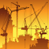 Tower Cranes Royalty Free Stock Images