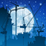 Tower Cranes royalty free illustration
