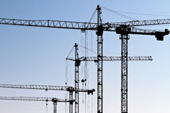 Tower cranes Royalty Free Stock Photos