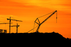 Tower Cranes Stock Image