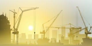 Tower Cranes Stock Photo