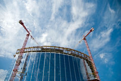 Tower cranes Royalty Free Stock Photography