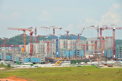 Free Tower Cranes Stock Photography - 45346162