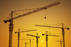 Tower cranes Royalty Free Stock Photo