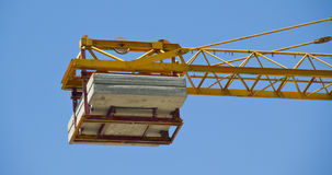 Tower cranes on building Stock Image