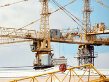Tower cranes. Royalty Free Stock Image