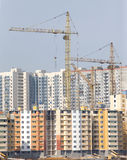 Tower cranes construction city buildings Royalty Free Stock Photography